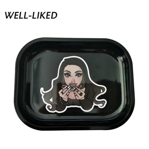 Girl Rolling On Rolling Tray