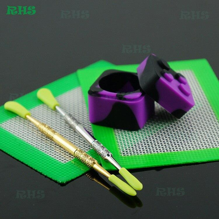 Silicone Container Jar, Mat, Tool- 1 Set
