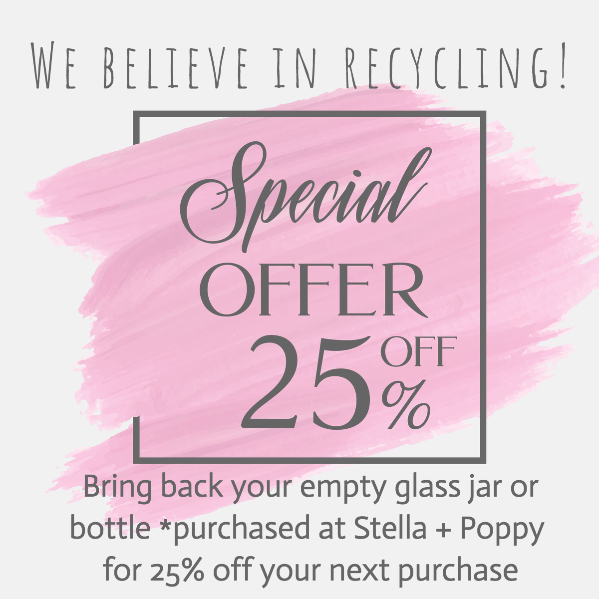 Recycling, Stella + Poppy and Granite Falls