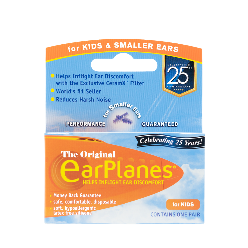 EarPlanes Children in-flight earplugs packaging front