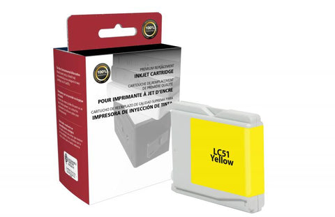 CIG Yellow Ink Cartridge for Brother LC51