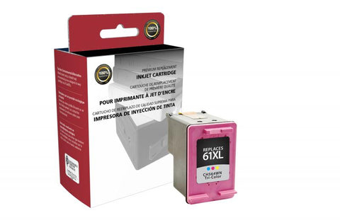 CIG High Yield Tri-Color Ink Cartridge for HP CH564WN (HP 61XL)