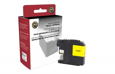 CIG New High Yield Yellow Ink Cartridge for Brother LC103XL