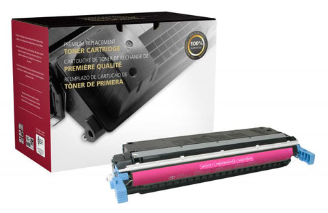 Clover Technologies Group, LLC CIG Compatible Magenta Toner Cartridge (Alternative for HP C9733A 645A) (12000 Yield)