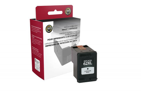Clover Technologies Group, LLC Compatible High Yield Black Ink Cartridge for HP C2P05AN (HP 62XL)