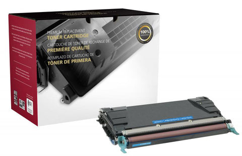 Clover Technologies Group, LLC High Yield Cyan Toner Cartridge for Lexmark C520/C522/C524/C534