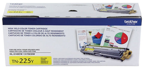 Brother High Yield Yellow Toner Cartridge (2200 Yield)