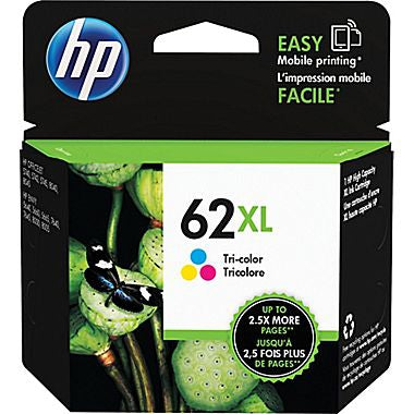 HP 62XL (C2P07AN) High Yield Tri-Color Original Ink Cartridge (415 Yield)