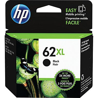 HP 62XL (C2P05AN) High Yield Black Original Ink Cartridge (600 Yield)