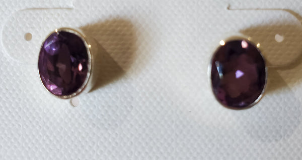 XL Semi Precious Stud Earrings