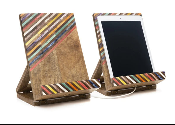 Bone  & Wood iPad Dock/ Bookstand