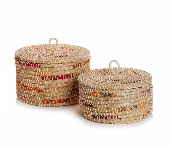 Chindi Wrap Baskets Set of 2