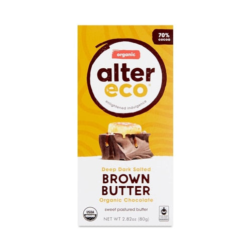 Alter Eco Brown Deep Dark Salted Brown Butter Chocolate