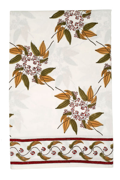Fairy Circle Cinnamon Leaf Tablecloth