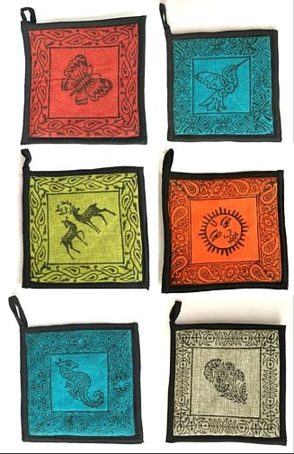 Blockprint Cotton Potholder