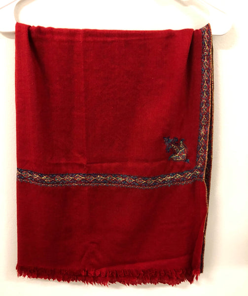 Cashmere Shawl with Embroidered Edge