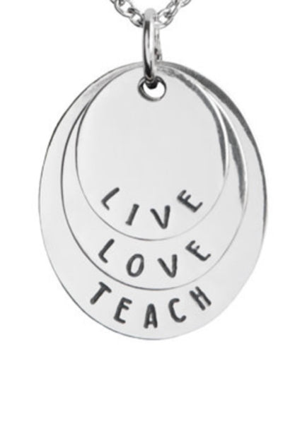 Live Love Teach Necklace