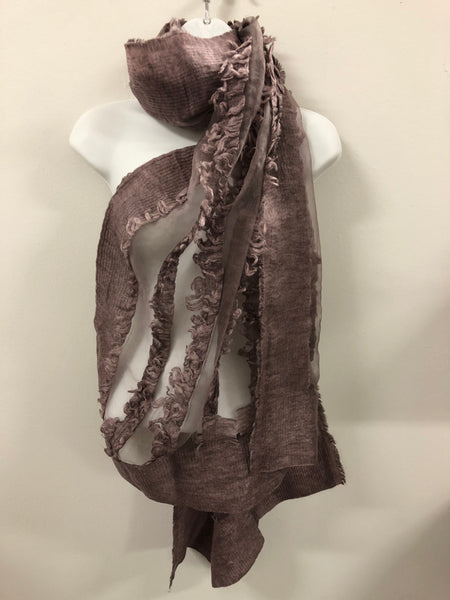 Wool & Cotton with Viscose Scarf