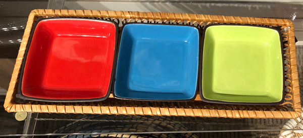 3 Dish Serving Tray