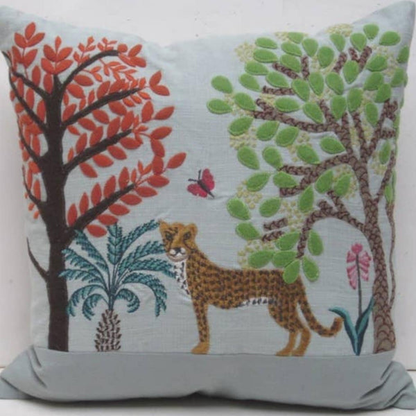 On the Savannah Embroidered Pillow