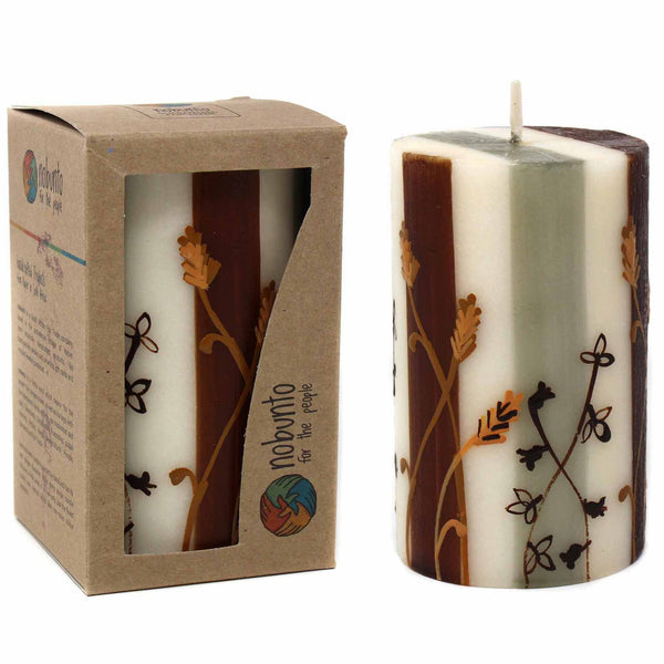 Hand-Painted Pillar Candle
