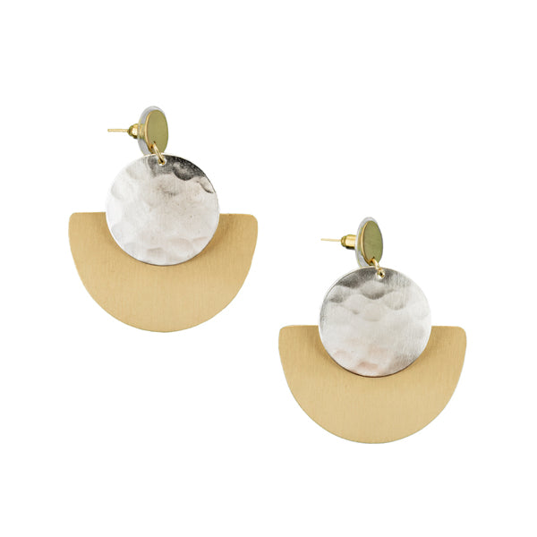 Vitana Deco Disc Earrings
