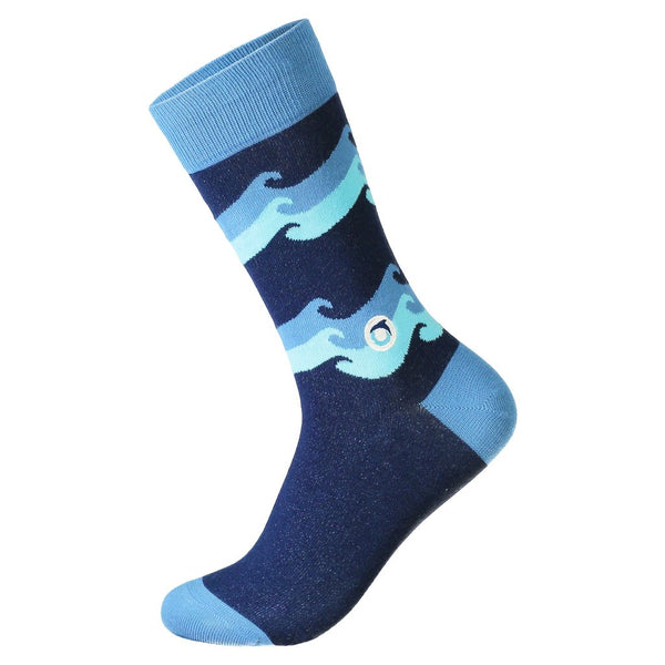 Socks That Protect Oceans - Blue Wave - Large