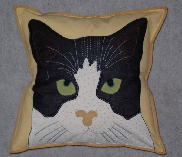 Jane the Cat Pillow Cover