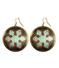 Tzolk'in Earring Black