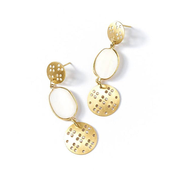 Dhavala Gold Drop Earrings