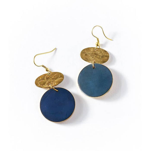 Cobalt Drop Earrings