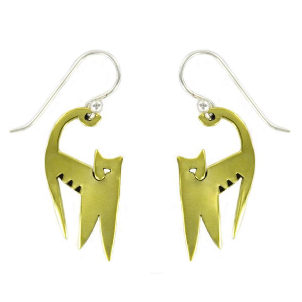 Stretching Cat Earrings