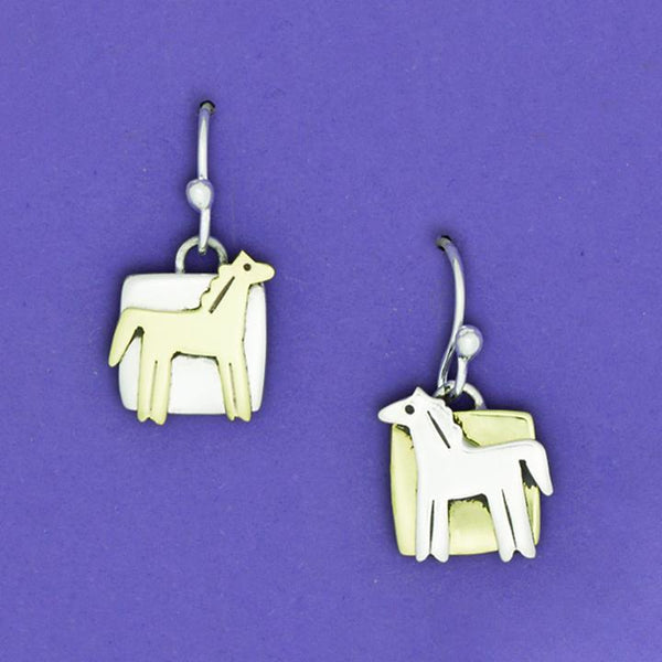 Pony Square Earrings