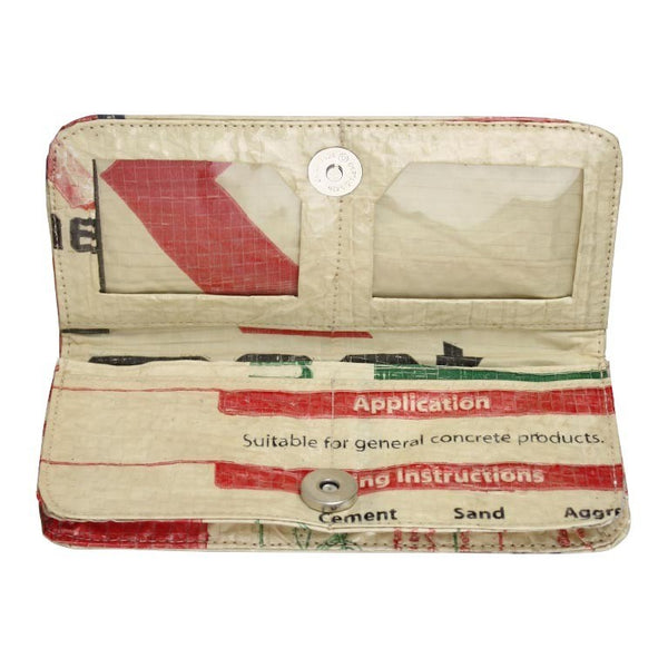 Recycled Cement Bag Long Wallet