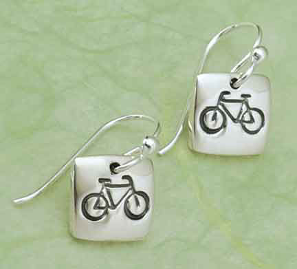 Sq Bicycle Earrings