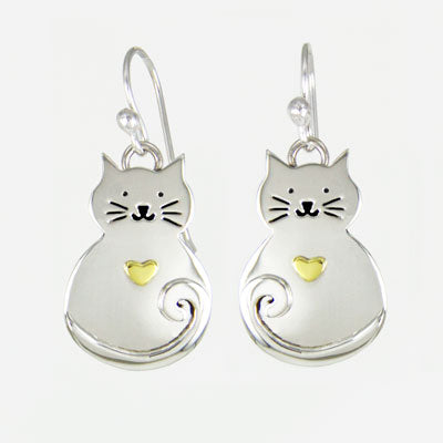 Fat Kitty Earrings