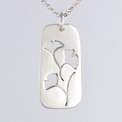 Cutout Gingko Necklace