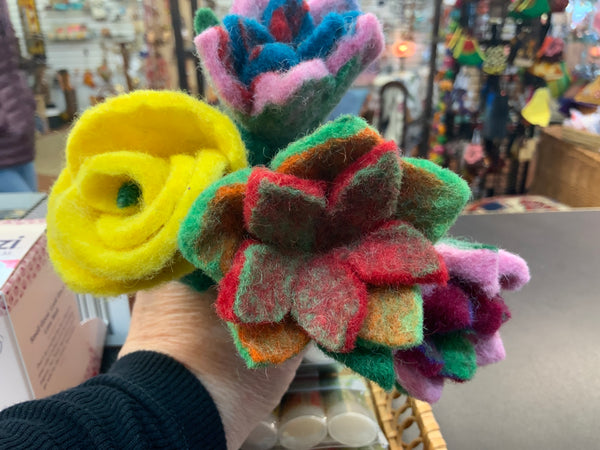 Small Felted Flower