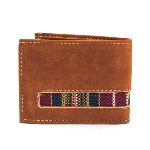 Leather Bifold Huipile Wallet