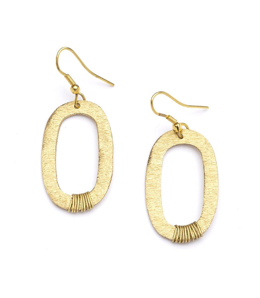 Gold Link Earring