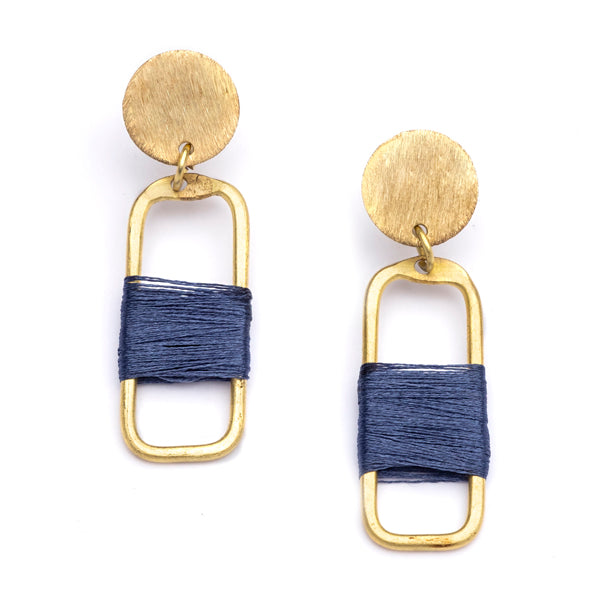 Navy Link Kaia Earrings