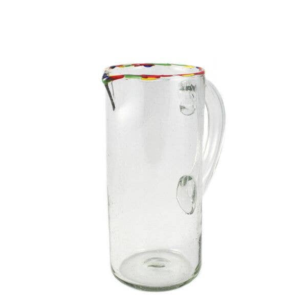Multi Colored Rim Pitcher