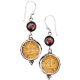 Shiva Coin Earrings