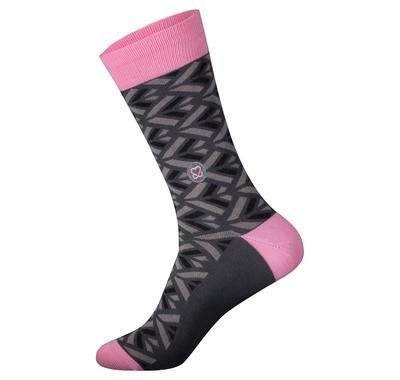 Socks that Promote Breast Cancer Prevention - Pink and Grey - Large