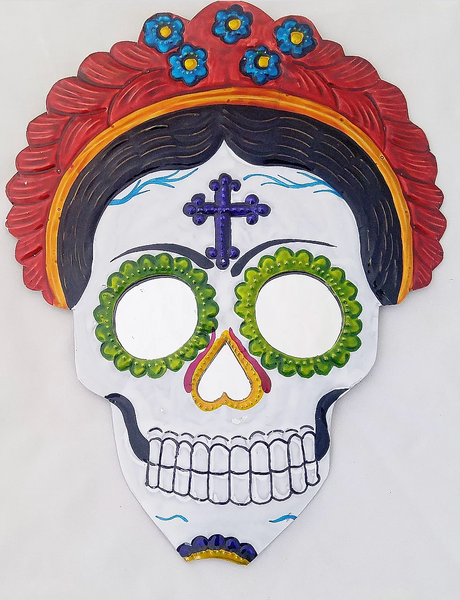 Tin Female Sugar Skull