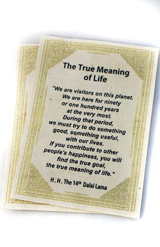 True Meaning of Life Card