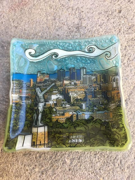 Birmingham Skyline Glass Dish