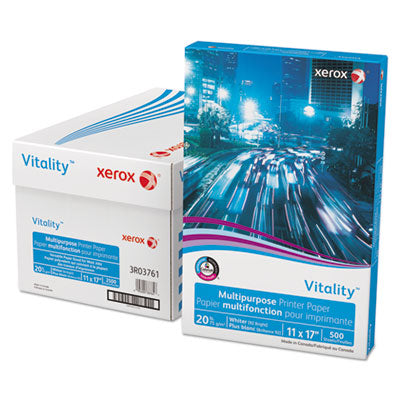 Xerox<sup>&reg;</sup> 3R03761 Vitality Multipurpose Printer Paper 11 x 17 White 500 Sheets/RM