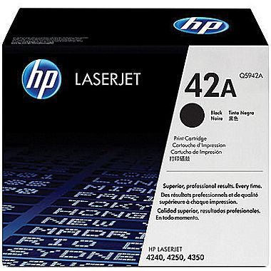 HP 42A (Q5942A) LaserJet 4240 4250 4350 Black Original LaserJet Toner Cartridge (10000 Yield)