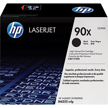 HP 90X (CE390X) LaserJet M4555 MFP Enterprise 600 M602 M603 High Yield Black Original LaserJet Toner Cartridge (24000 Yield)
